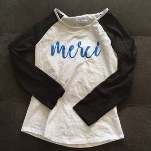 [simply styled] girl's raglan baseball l/s T-shirt